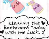 Bathroom Cleaning Spray  || Planner Stickers, Cute Stickers for Erin Condren (ECLP), Filofax, Kikki K, Etc. || DPS08