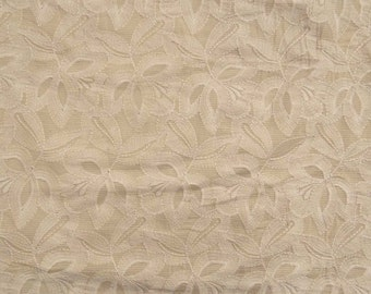 """Indian Cotton Fabric, Floral Embroidery, Dress Fabric, Home Accessories, Sewing Fabric, 46"""" Inch Apparel Fabric By The Yard ZBC7287A"""