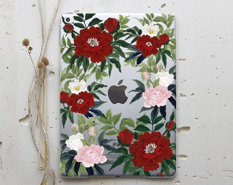 Floral Peonies iPad Case iPad Mini Case iPad Mini 2 iPad Air 2 Case iPad Cover Flowers iPad Pro 9.7 Case iPad Pro 12.9 Case iPad 4 WC4033