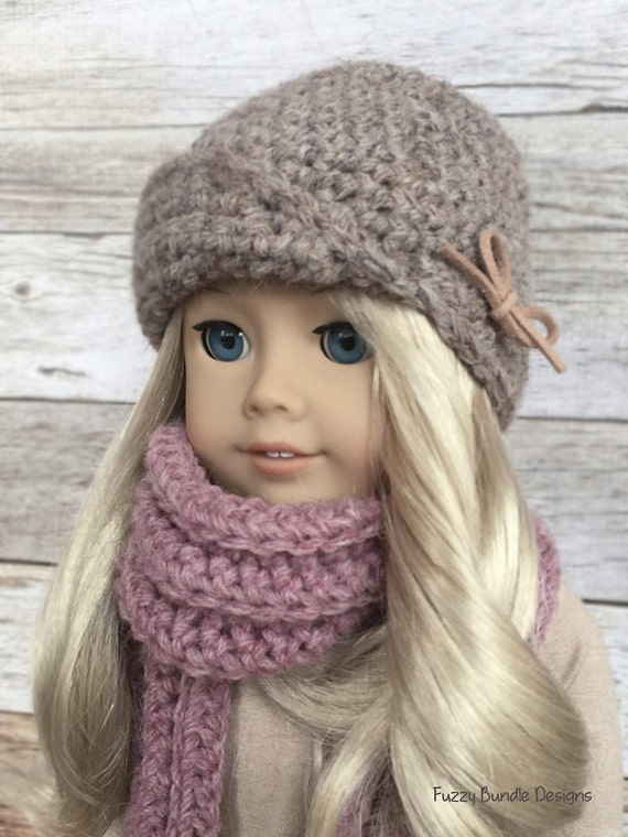 Crochet Hat Pattern American Girl Doll : CROCHET PATTERN 18 inch Doll Amelie Cloche/Hat PDF by ...