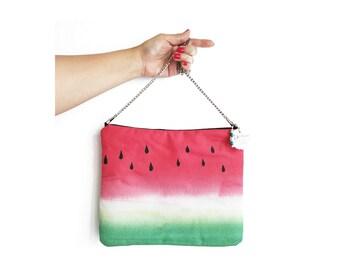 Tropical bag / Summer Crossbody Bag / Fruit bag / Watermelon bag / Womans purse / Evening bag /  bag with strap