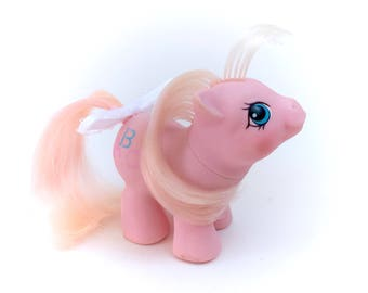 G1 My Little Pony Noodles Newborn Twin Babies Pink ABC Baby Ponies Original 1987 80s TV Show Kawaii Fairy Kei Retro Chire Kidcore Doodles