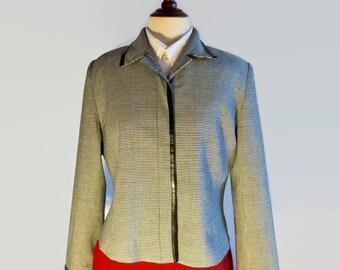 Studio Jax blazer, Houndstooth pattern jacket, size 10 jacket