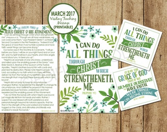March 2017 Visiting Teaching Message--DOWNLOAD INSTANTLY