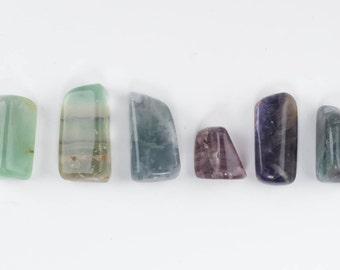 One FLUORITE Crystal Polished Stone - Pocket Stone, Healing Stone, Healing Crystal, Green Fluorite, Blue Fluorite, Purple Fluorite E0010