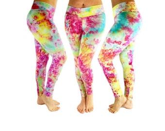 Tie Dye Leggings - BoHo Leggings - Yoga Leggings - Leggings - Festival Clothing - Festival Leggings - Tie Dye Clothing - Tie Dye