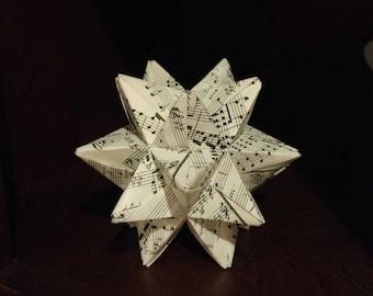 origami sheet music etsy