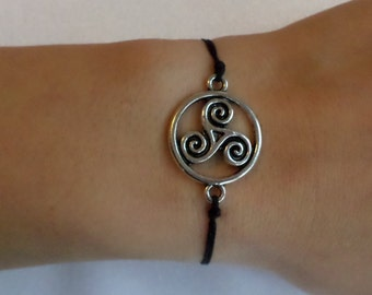 Celtic bracelet - Triskele (various colors)