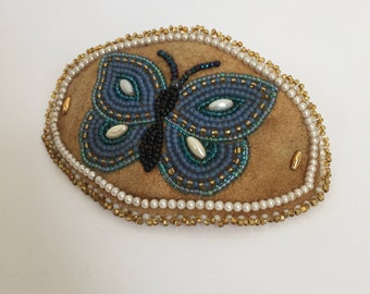 Beaded Butterfly Hair Clip 90s Barrette