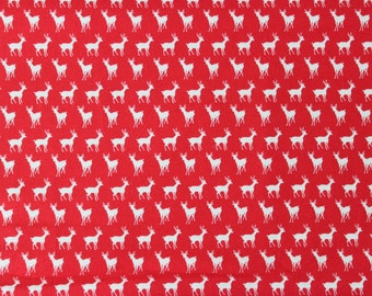 Oh Deer by Momo for Moda Fabrics - Tiny Deer Red Cherry - Sold by the yard