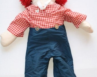 "Handmade Raggedy Andy doll 36"""