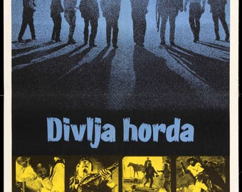 "The Wild Bunch (1969) Original Yugoslavian Movie Poster - 20"" x 28"""