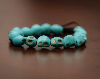 Beaded Skulls Bracelet // Fashion Bracelet // Women's Bracelet // Men's Bracelet