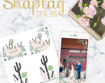 Custom designed Wedding Logo (2 designs) & Snapchat Geofilter || marriage, gold, bride, groom, save the date, bachelorette, mr and mrs