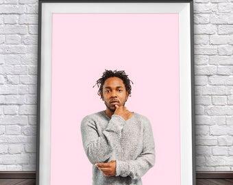 Kendrick Lamar Poster • Hip Hop Print Lyric Poster Kendrick Lamar Print Hiphop Music Wal Art Rap Print Hip Hop Party Kendrick Lamar Art