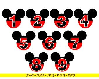 Disney Numbers Etsy Studio