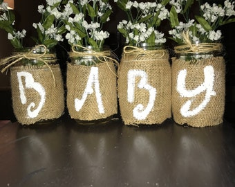 Baby Shower Mason Jars