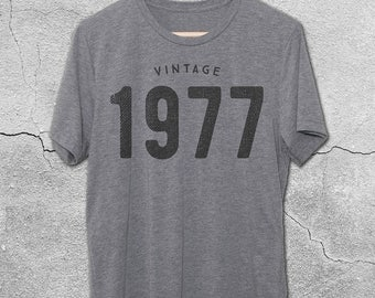 40th Birthday Gifts For Women - 41st Birthday gift for man - Vintage 1977 / 1978 Shirt - 40th Birthday Shirt -40th Birthday Graphic Tee