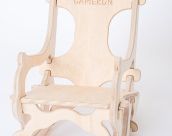 PERSONALIZING  Puzzle Rocking Chair, Small & Large Only