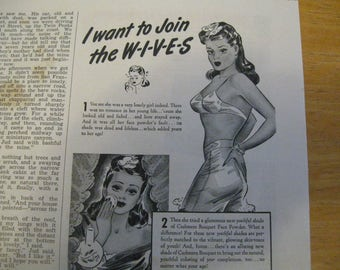 Cashmere bouquet face powder 1942 ad  free shipping in the u s a