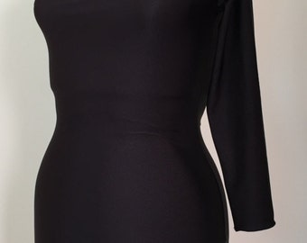 Three Quarter Sleeve for Silhouette Latin Dance Dress