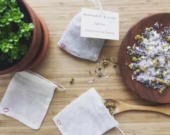 Handmade Lavender & Chamomile Tub Tea - Herbal Bath - Bath Soak - Bath Salts - Bath Tea Bags - Bridal Shower - Baby Shower