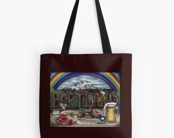 Portland Oregon Original Art Tote Bag