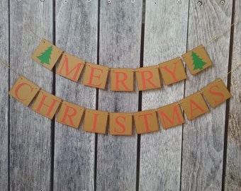 MERRY CHRISTMAS banner, christmas decorations, christmas banners, holiday decor, christmas mantel banner, christmas photo props