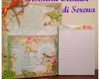 Spring theme note pad holder