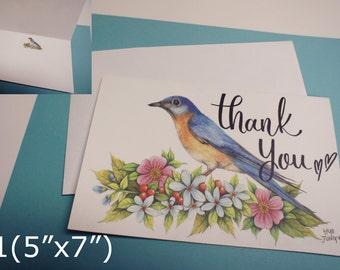 "Thank you card(5""x7""/4""x5.5"")"