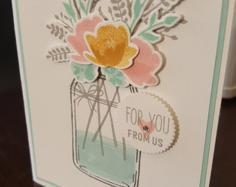 Flower Jar : For You, From Us! Greeting Card