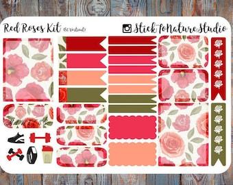 Red Roses Sticker Kit