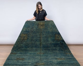 PARIS Overdyed Persian Rug (Green)