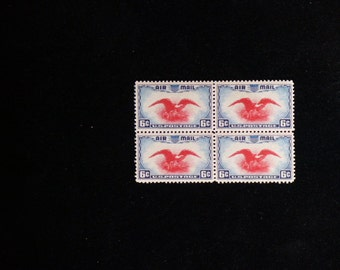 1938 U.S. 6 cent Eagle Airmail Block of Four