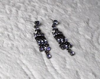 Black & Blue Chandelier Earrings!
