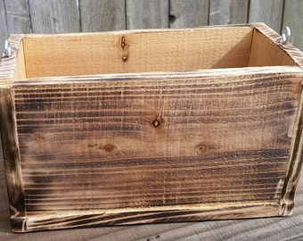 Rustic Handmade Hanging Planter box reclaimed wood