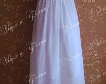 Petticoat in cotton (Regency, 1800s)