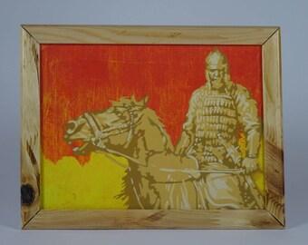 Stencil Spray-Paint Warrior