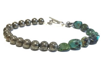 Timeless Pyrite African Turquoise