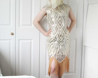 Fringe Dress, Charleston Dress, Great Gatsby Wedding Dress, Wedding Guest Dress, Roaring 20s Dress, Gatsby Dress, Flapper Wedding Dress