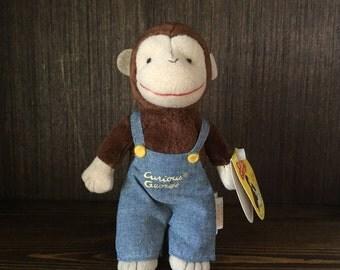 Vintage Gund Curious George Mascot Stuffed Animal