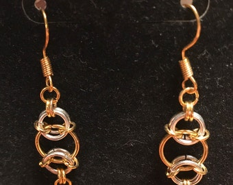 Shiny chain maille earrings