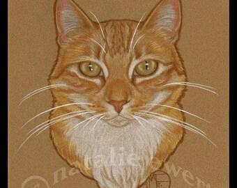 Orange Cat Print Wall Art Home Decor Cat Lover Gift Cat Lady Gift For Her Marmalade Cat Art Cat Portrait Animal Art Ginger Cat Print