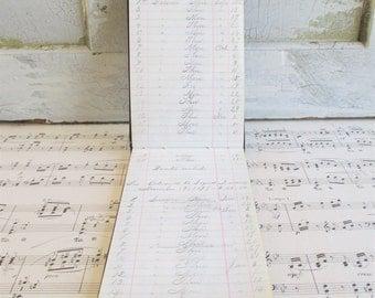 "Little Vintage Handwritten Ledger ""Musical Accounts"" 1877"
