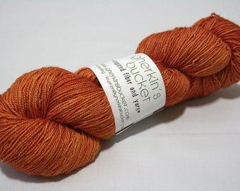 Hand Dyed Artisan Yarn, Tonal Kettle Dyed Sock Yarn, Semisolid SW Merino Nylon Sparkle Yarn, Shimmer Sock - Glad Hand #22217
