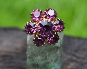 Vintage Purple Costume Ring