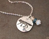 Wolf and Gemstone Necklace