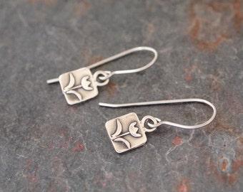 Sterling Silver Tulip Earrings