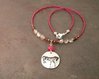 Beaded Wild Horse Necklace