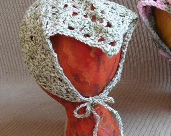 Neck Kerchief, Tie On Bonnet, USA Grown Cotton, Summer CLEARANCE EVENT
